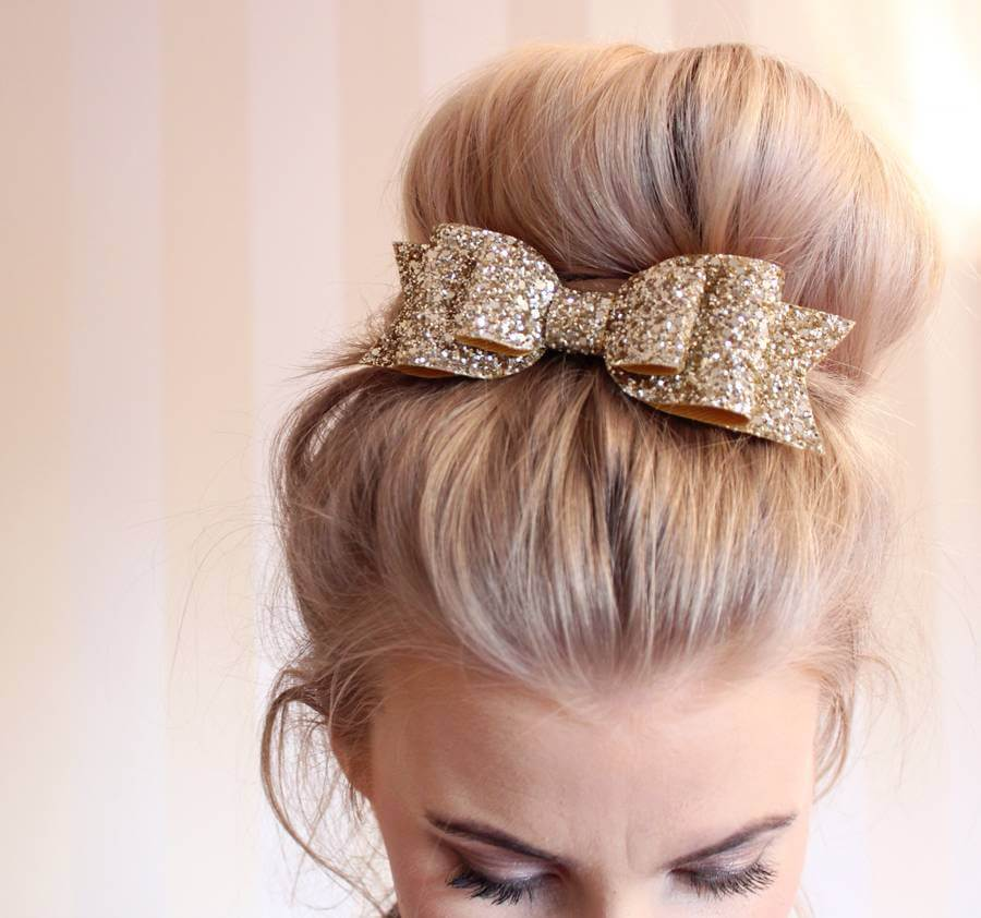Glitter Hair Bow DIY Glitter Fashion Trends To Try This Season