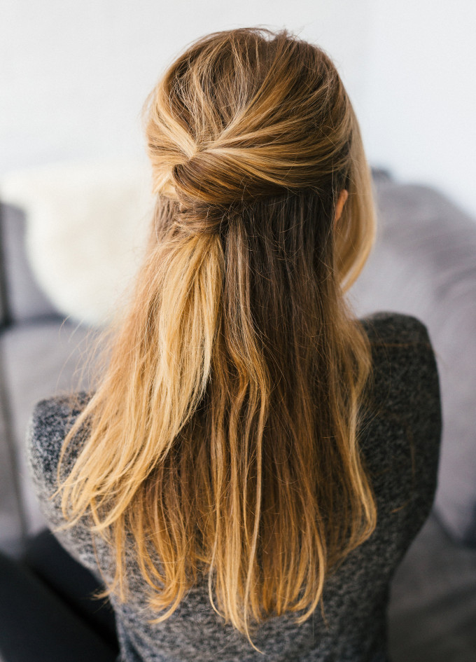 A half Do is Always My Favourite 5 Minutes Hairstyles For Office