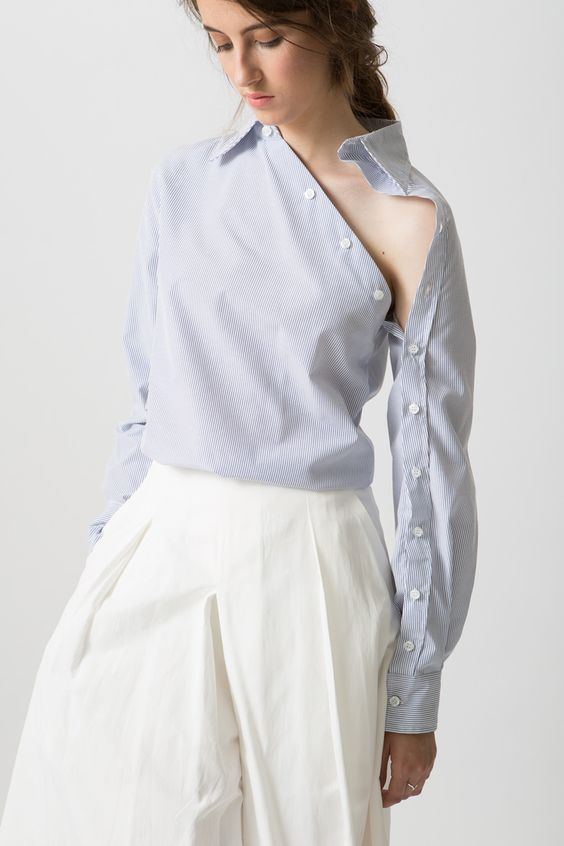 One shoulder blouse Trending Blouses with Stylish Sleeves For This Summer