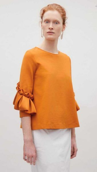 Ruffle sleeves Trending Blouses with Stylish Sleeves For This Summer