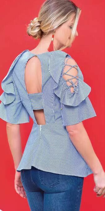 Cut out sleeves design Trending Blouses with Stylish Sleeves For This Summer