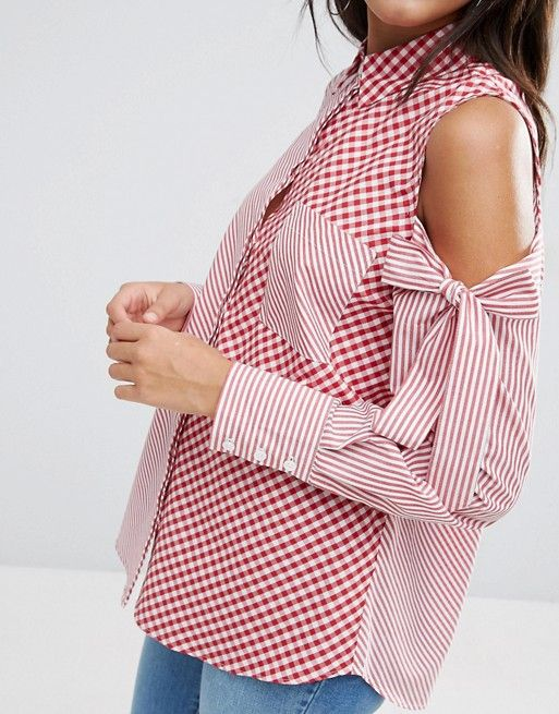 Bow sleeves design Trending Blouses with Stylish Sleeves For This Summer