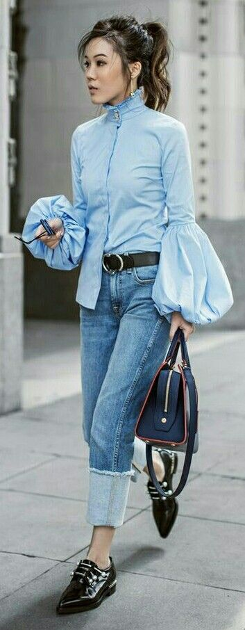 Mutton sleeves blouse design Trending Blouses with Stylish Sleeves For This Summer