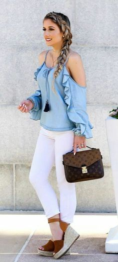 Cold shoulder blouse design Trending Blouses with Stylish Sleeves For This Summer
