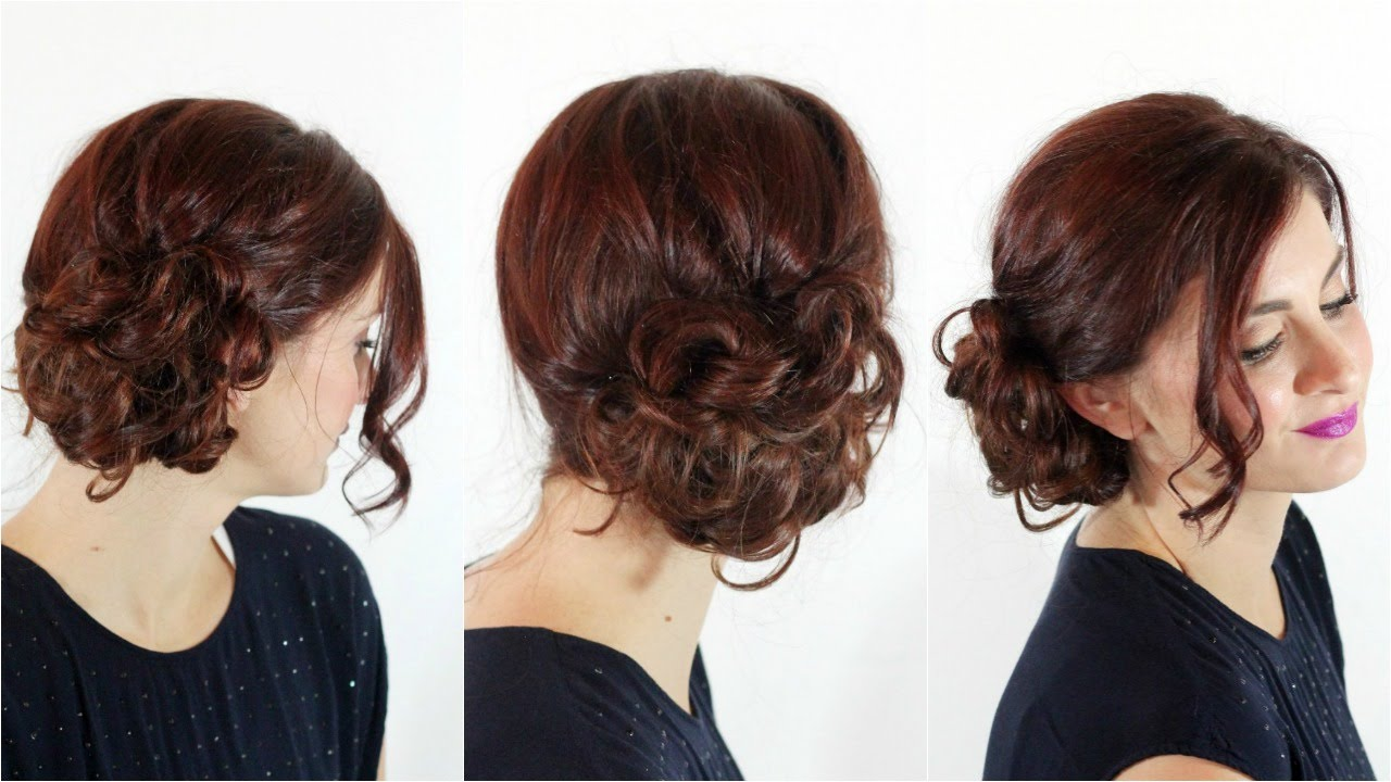 A Side Bun For Meetings 5 Minutes Hairstyles For Office
