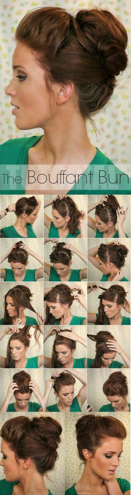 BOUFFANT HAIR BUN STYLE Lovely & Easy Hair Bun Styles Long Hair Inspired From Celebrities
