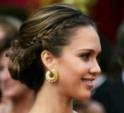 BRAID IN THE MIDDLE Stylish Puff Hairstyles For Round Face