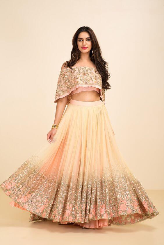 CAPE STYLE Stylish Lehenga Choli For Wedding 2020