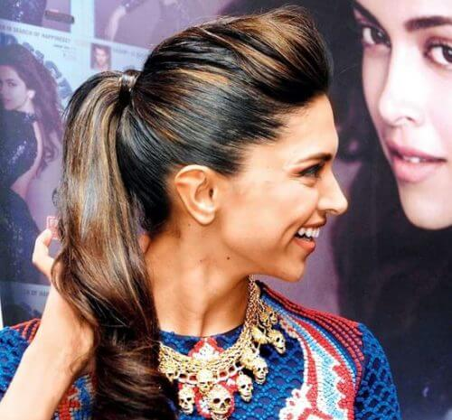 PUFFY PONYTAIL bollywood Celebrity Hairstyles & Haircuts