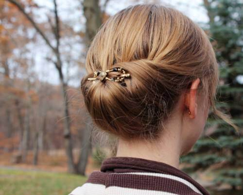 THE GIBSON TUCK Lovely & Easy Hair Bun Styles Long Hair Inspired From Celebrities