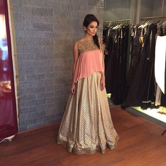 INDO-WESTERN STYLE Stylish Lehenga Choli For Wedding 2020
