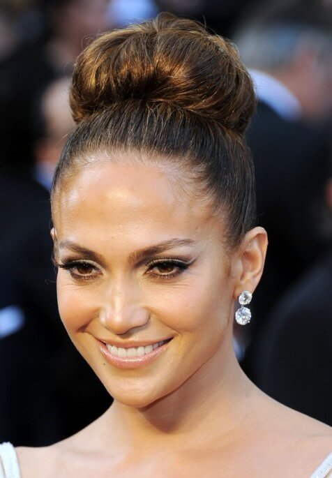 JENNIFER LOPEZ FORMAL BUN Lovely & Easy Hair Bun Styles Long Hair Inspired From Celebrities