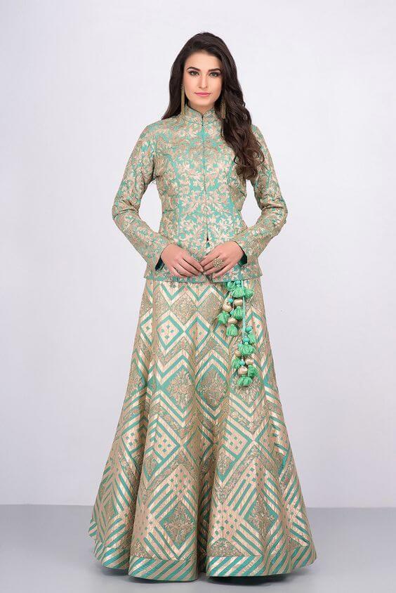 PEPLUM STYLE Stylish Lehenga Choli For Wedding 2020