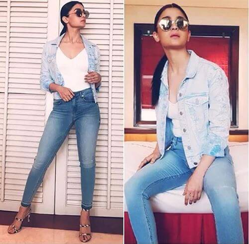 IN FRENCH CONNECTION Sizzling Outfits of Hot Alia Bhatt : Best Summer Looks During Promotional Events!