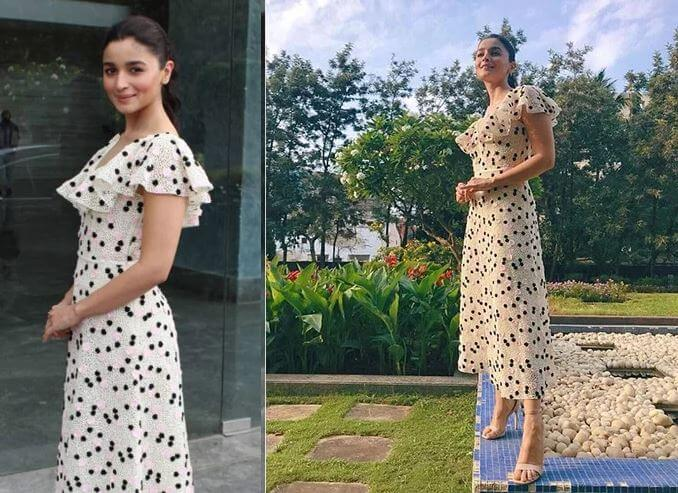 PRETTY IN POLKA DOTS  Sizzling Outfits of Hot Alia Bhatt : Best Summer Looks During Promotional Events!