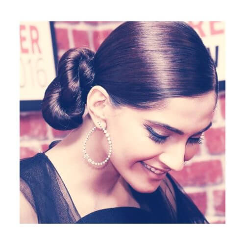 TWISTED BUN  Sonam Kapoor Hairstyles For Your Perfect Look