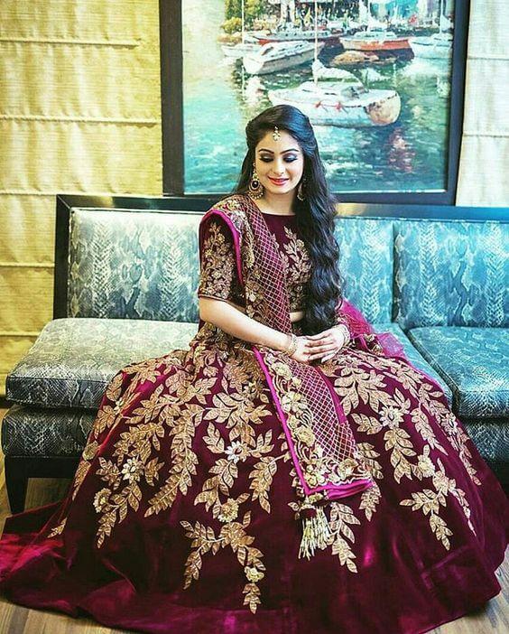 VELVET STYLE Stylish Lehenga Choli For Wedding 2020