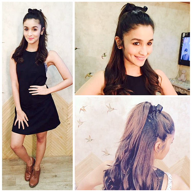 Alia Bhatt looking super cute in a THE HALF PONY