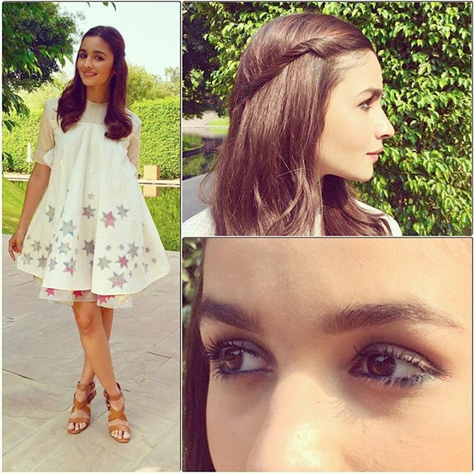 Alia Bhatt looking super cute in a THE SIMPLE SWIRL Super Attractive Hairstyles of Alia Bhatt  for Short/Medium/Long hair