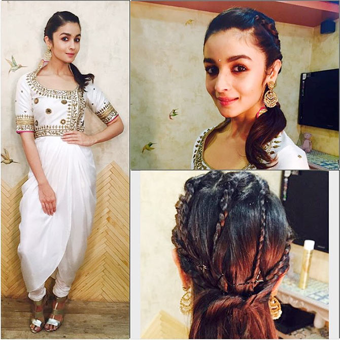 Alia Bhatt looking super cute in a TOO MANY BRAIDS Super Attractive Hairstyles of Alia Bhatt  for Short/Medium/Long hair