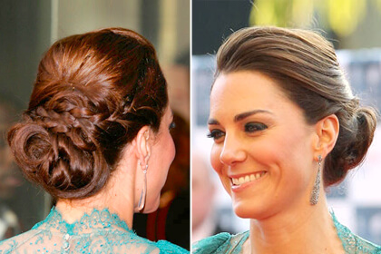 KATE MIDDLETON HAIR BUN Lovely & Easy Hair Bun Styles Long Hair Inspired From Celebrities