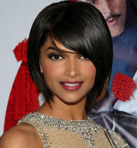 BLUNT BOB Deepika Padukone Hairstyles & Haircuts