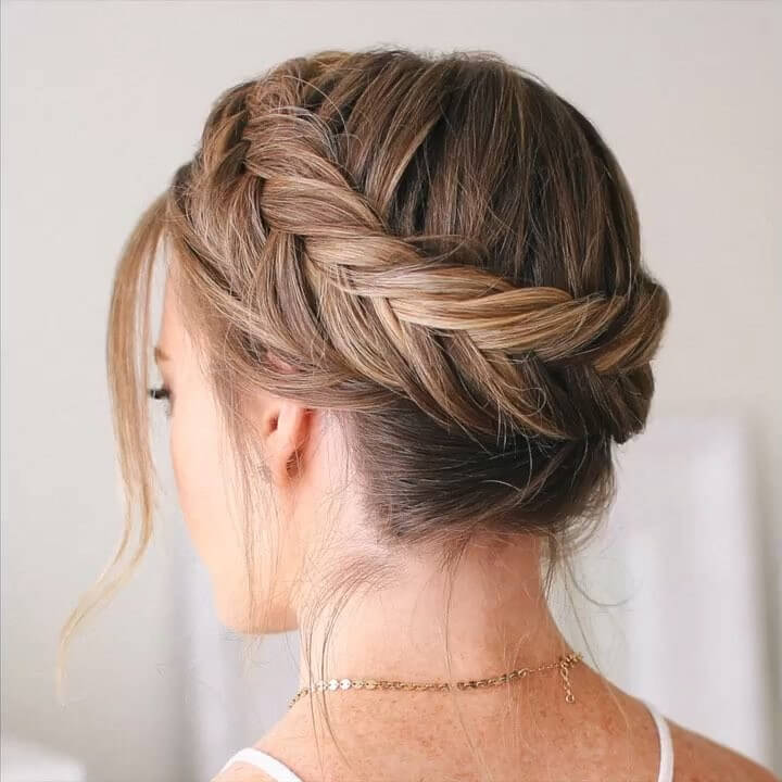 Dutch Fishtail Crown Braid Quick and Easy French Braid Hairstyles for Girls