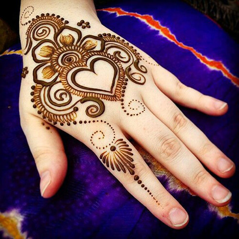 HEART DESIGNS  Mehndi Designs For Your Special Look (Complete Package)
