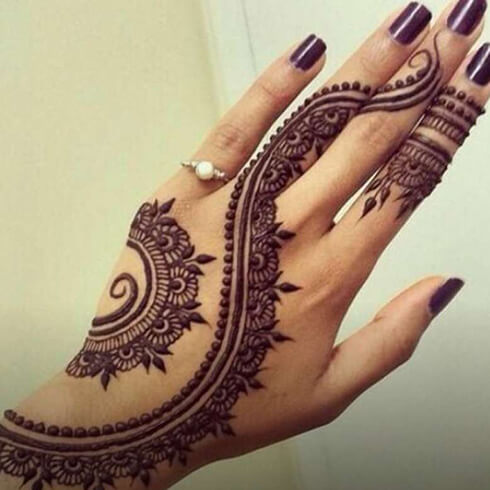 LEAF DESIGN  Mehndi Designs For Your Special Look (Complete Package)