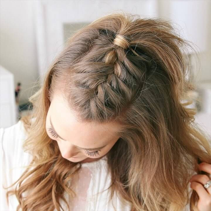 French Mohawk Braid Quick and Easy French Braid Hairstyles for Girls