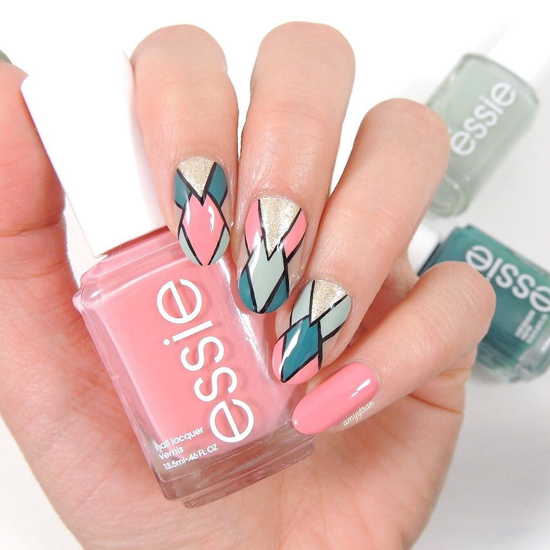 Segmented Nail Art Best Nail Art Designs of This Year For Women