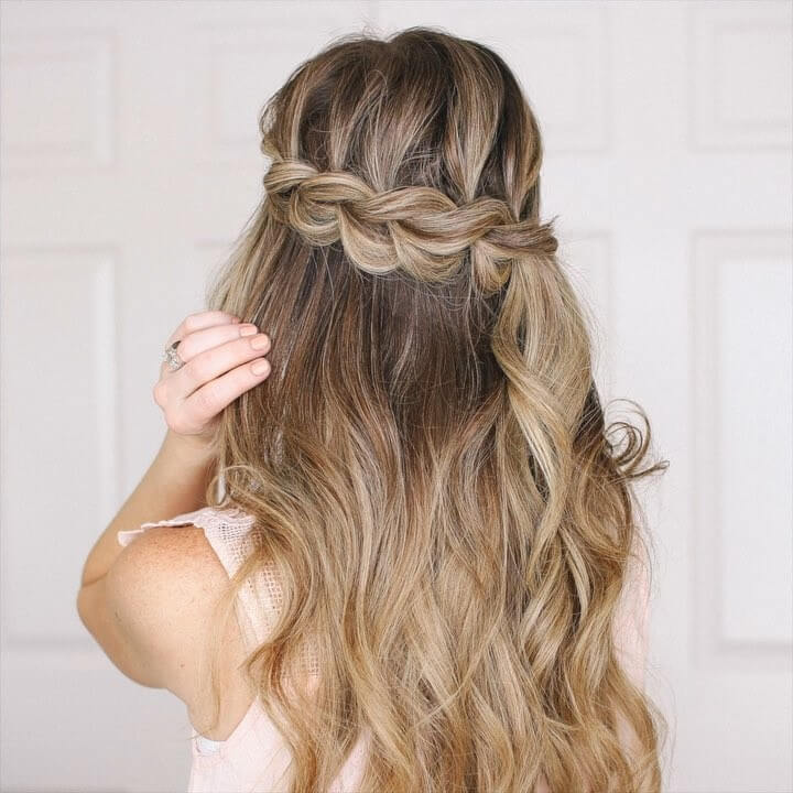 Half Up Pull Through Braid Quick and Easy French Braid Hairstyles for Girls