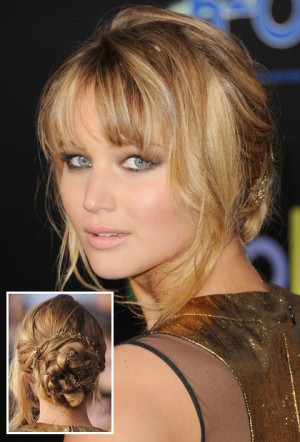 LOW MESSY BUN WITH BANGS Lovely & Easy Hair Bun Styles Long Hair Inspired From Celebrities