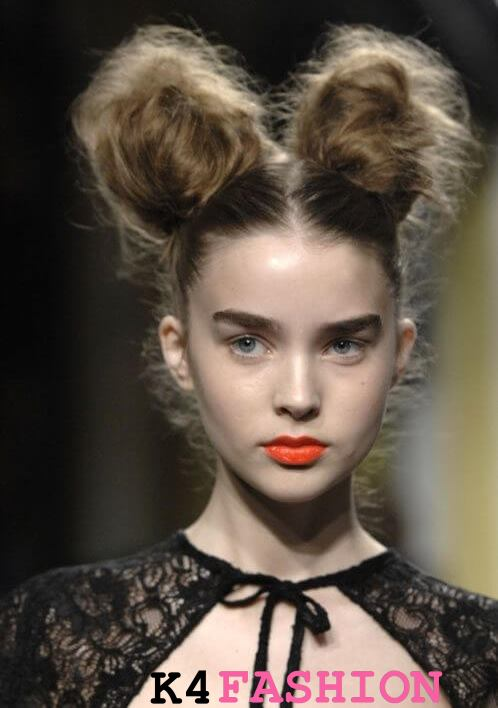 MESSY DOUBLE BUN Lovely & Easy Hair Bun Styles Long Hair Inspired From Celebrities