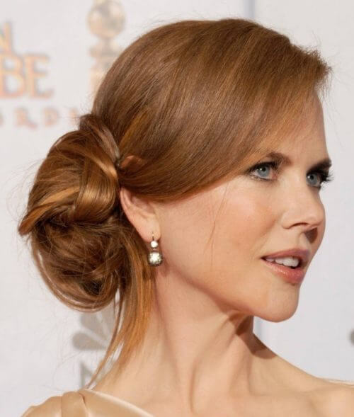 NICOLE KIDMAN BUN Lovely & Easy Hair Bun Styles Long Hair Inspired From Celebrities