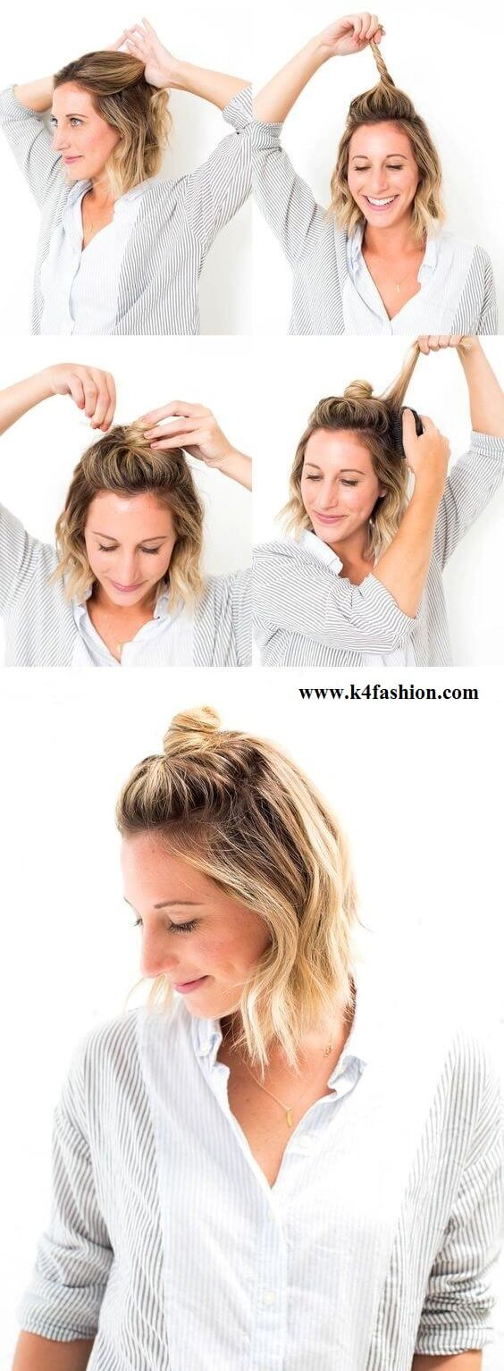 Greek hairstyle for short hair (Step by step tutorial)