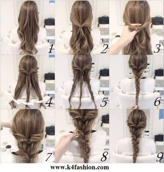 Braid is an absolute classic for long hair Evening Hairstyles for Long and Medium Hair