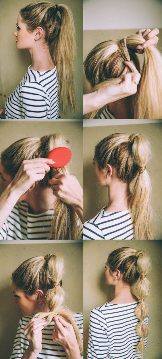 Bubble Ponytail evening hairstyle Evening Hairstyles for Long and Medium Hair
