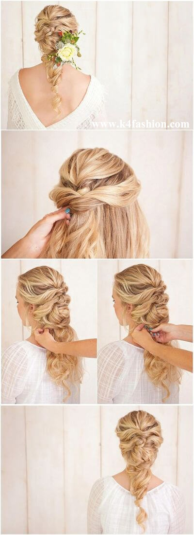 Bulk Braid with a Barrette Elegant Prom Hairstyles For Long & Short Hair