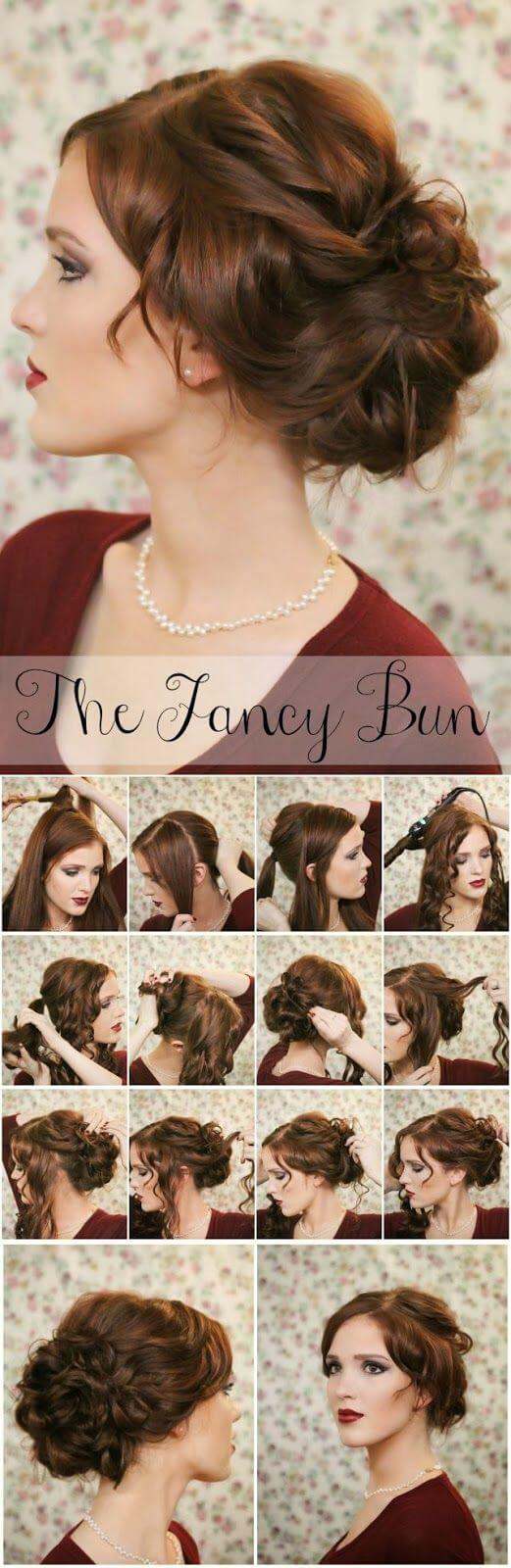 Curly Bun most special of all evening hairstyles Evening Hairstyles for Long and Medium Hair