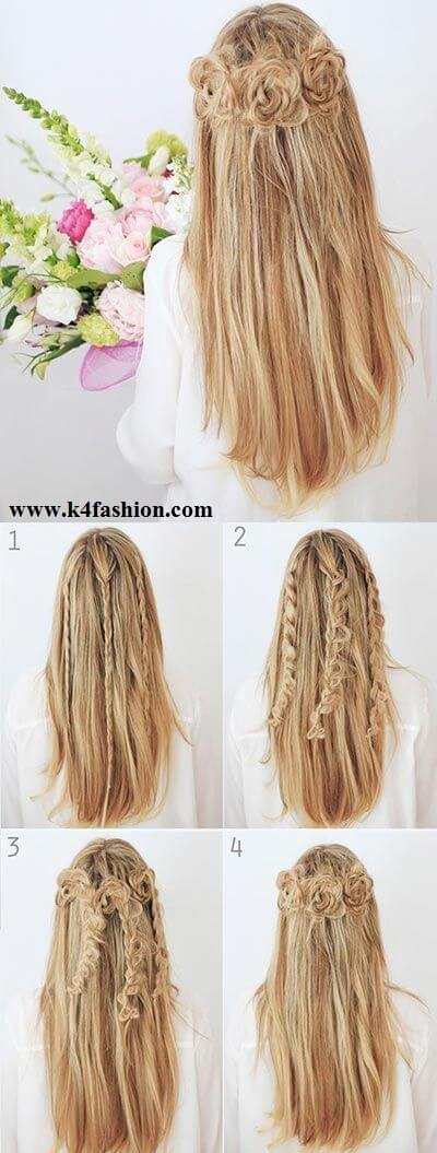 Rose evening hairstyle Evening Hairstyles for Long and Medium Hair