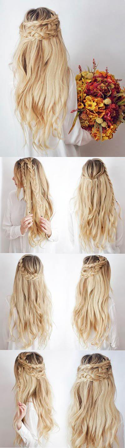 Levels of braids Evening Hairstyles for Long and Medium Hair
