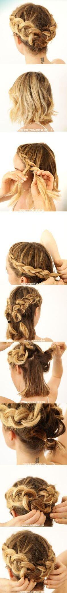 GreekBraidsHairstyle Step by step tutorial Greek hairstyle for short hair (Step by step tutorial)