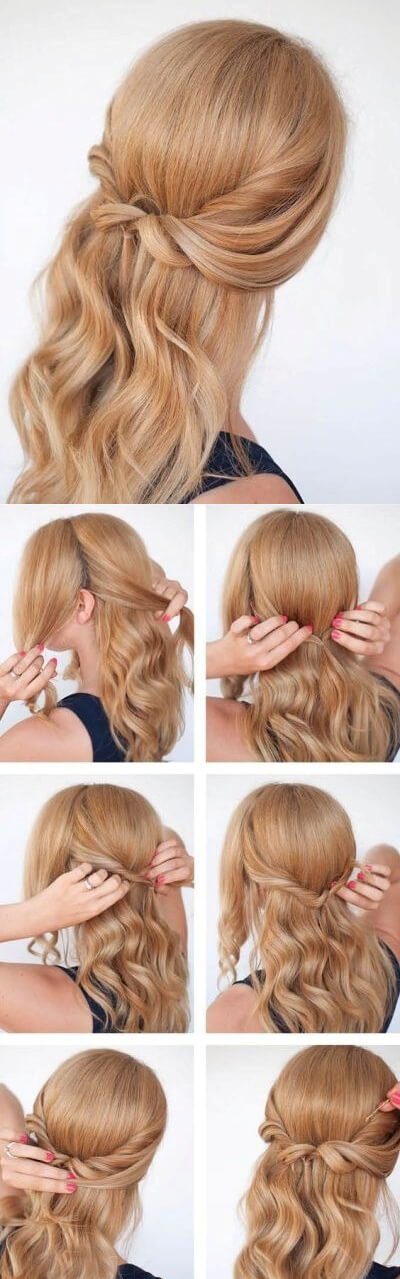 Hair with Curls Elegant Prom Hairstyles For Long & Short Hair
