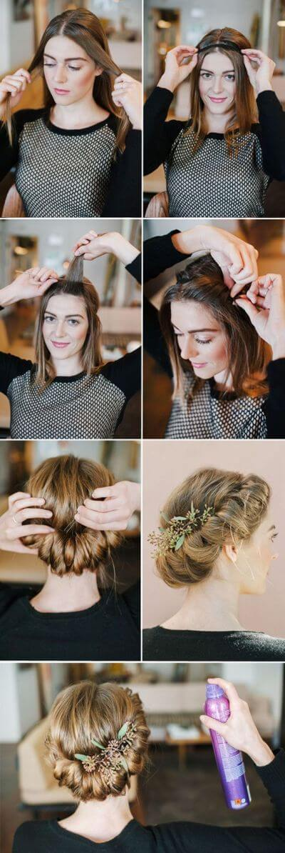 Hair with a Rubber Bezel Elegant Prom Hairstyles For Long & Short Hair