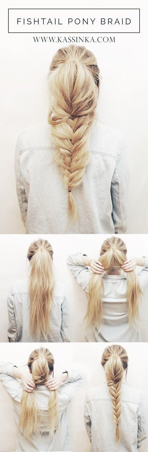 Tail braid Evening Hairstyles for Long and Medium Hair