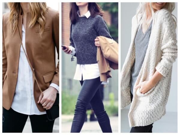 Anne hathaway street style, brown jacket, short-sleeve tops with cardigan or a pullover of fine knitwear winter women outfits
