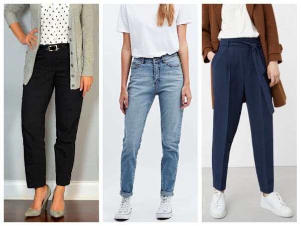 Women's trousers/pants of black or blue shade for winter season Guide for Winter Wardrobe To Keep You Stylish