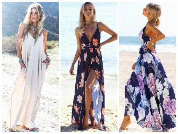 Stylish Beach Maxi Outfit Ideas For Women This Summer