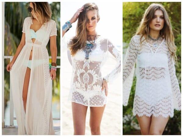 Transparent Dress Stylish Beach Outfit Ideas For Women This Summer